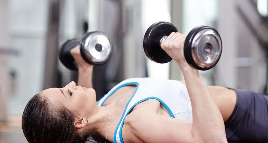 Women Doing Chest Exercises on Bench